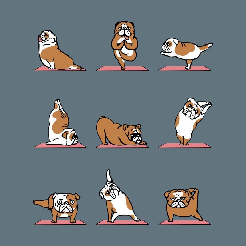 English Bulldog Yoga by huebucket's Artist Shop
