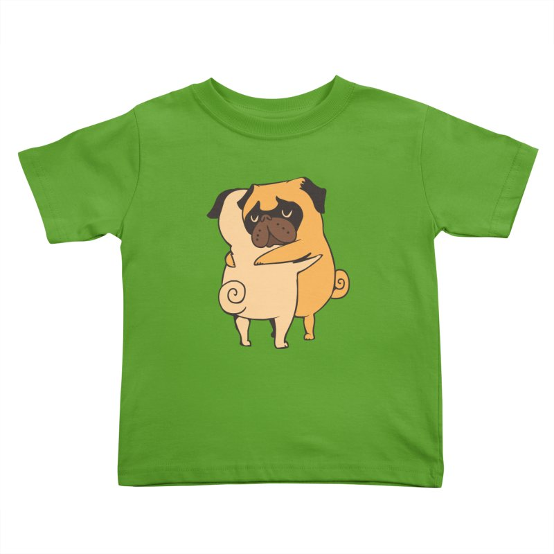 Pug Hugs Kids Toddler T-Shirt by huebucket's Artist Shop