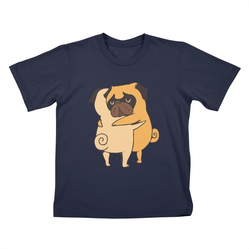 Pug Hugs Kids T-Shirt by huebucket's Artist Shop