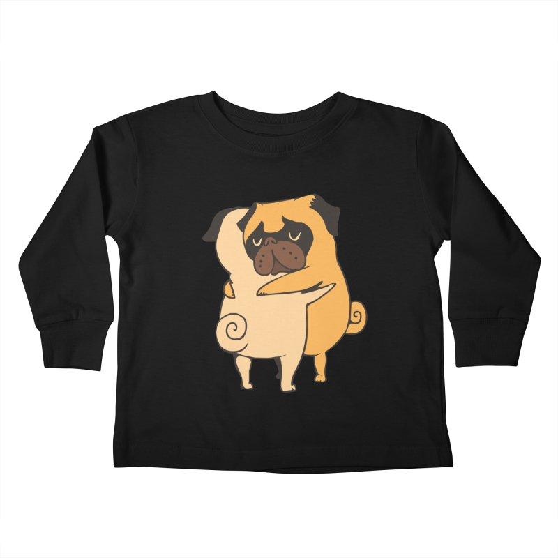 Pug Hugs Kids Toddler Longsleeve T-Shirt by huebucket's Artist Shop
