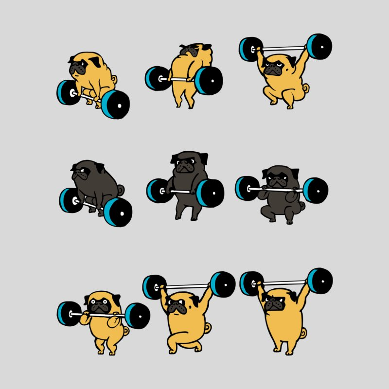 OLYMPIC LIFTING PUG by huebucket's Artist Shop