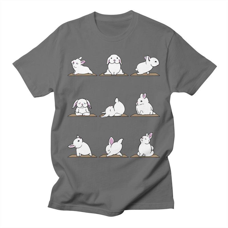 Bunnies Yoga Men's T-Shirt by huebucket's Artist Shop