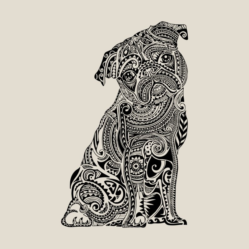 Polynesian Pug by huebucket's Artist Shop