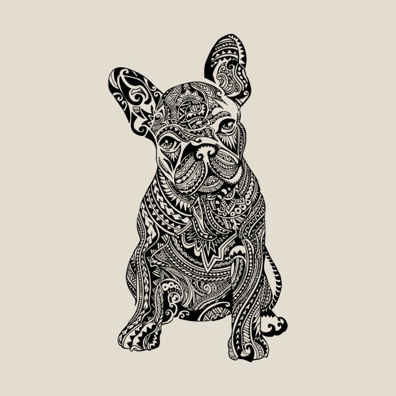 Polynesian Frenchie by huebucket's Artist Shop