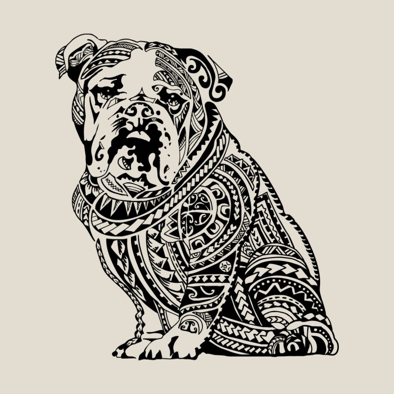 Polynesian English Bulldog by huebucket's Artist Shop