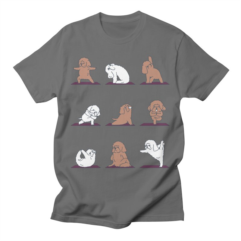 POODLE YOGA Men's T-Shirt by huebucket's Artist Shop