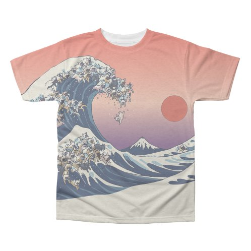 image for the great wave of frenchie