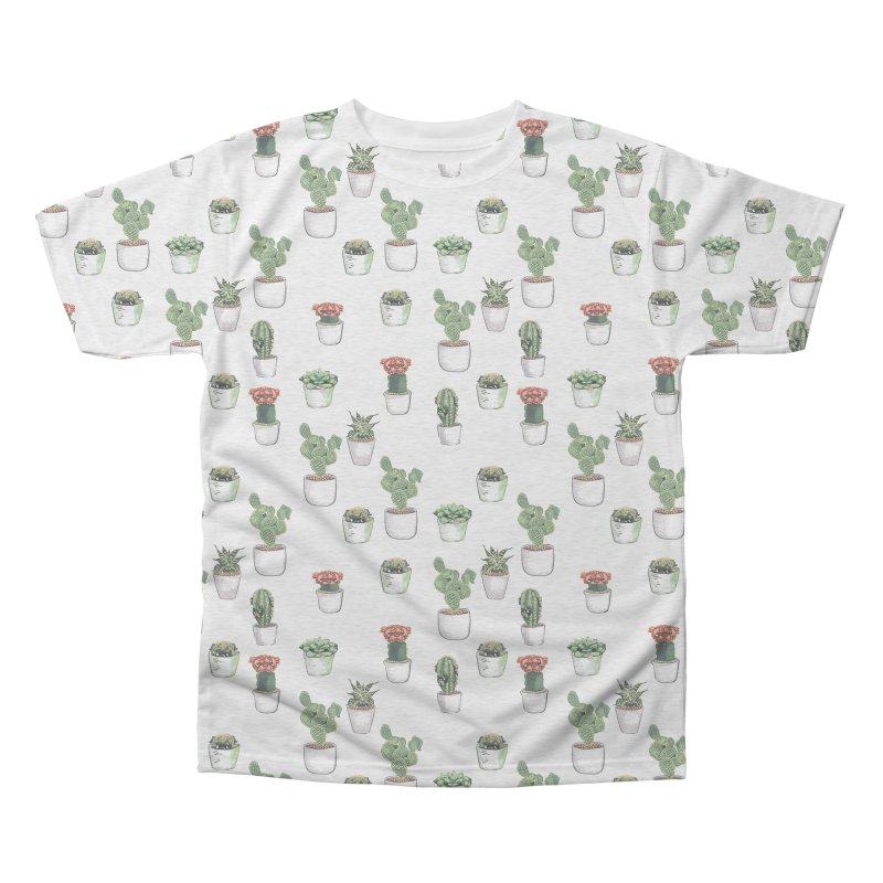 Cacti & Pugculents Men's Triblend All Over Print by huebucket's Artist Shop