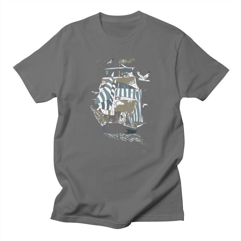 Sail to The Moon Men's T-Shirt by huebucket's Artist Shop