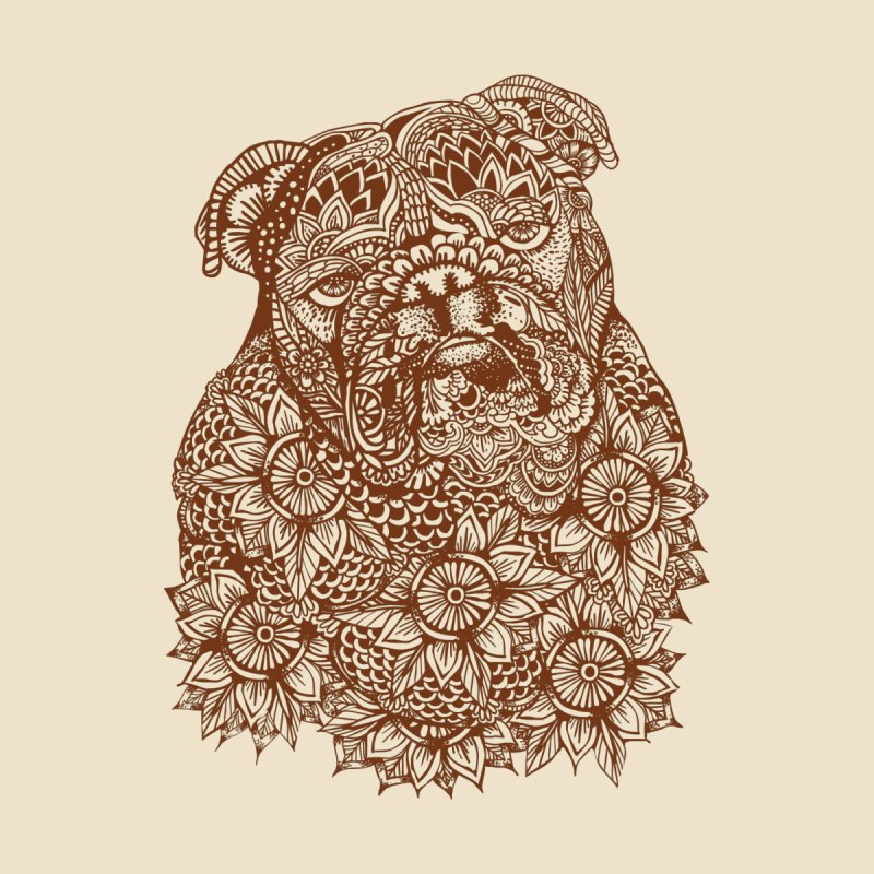 MANDALA OF ENGLISH BULLDOG None  by huebucket's Artist Shop