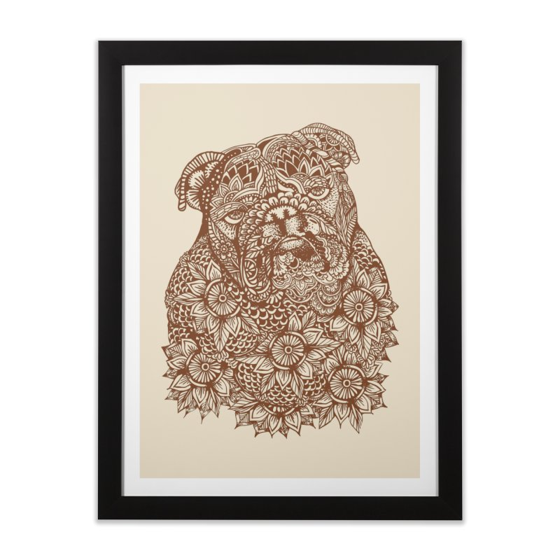 MANDALA OF ENGLISH BULLDOG   by huebucket's Artist Shop