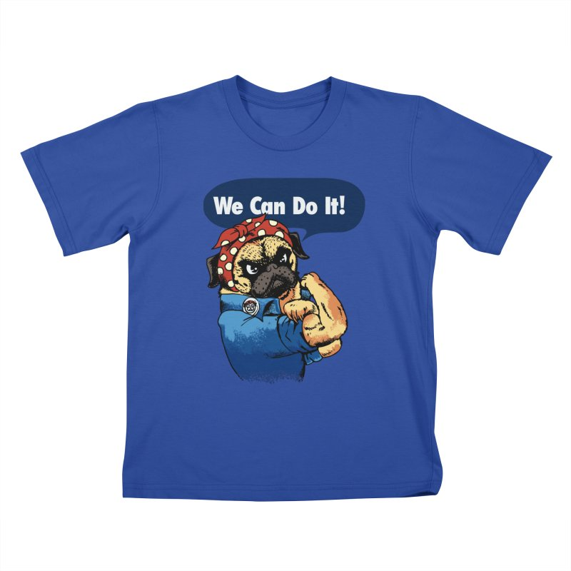We Can Do It Pug   by huebucket's Artist Shop