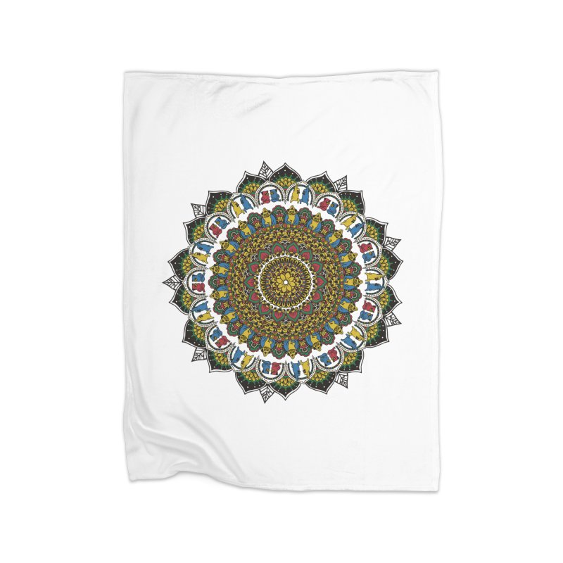 Pugs Yoga Mandala   by huebucket's Artist Shop