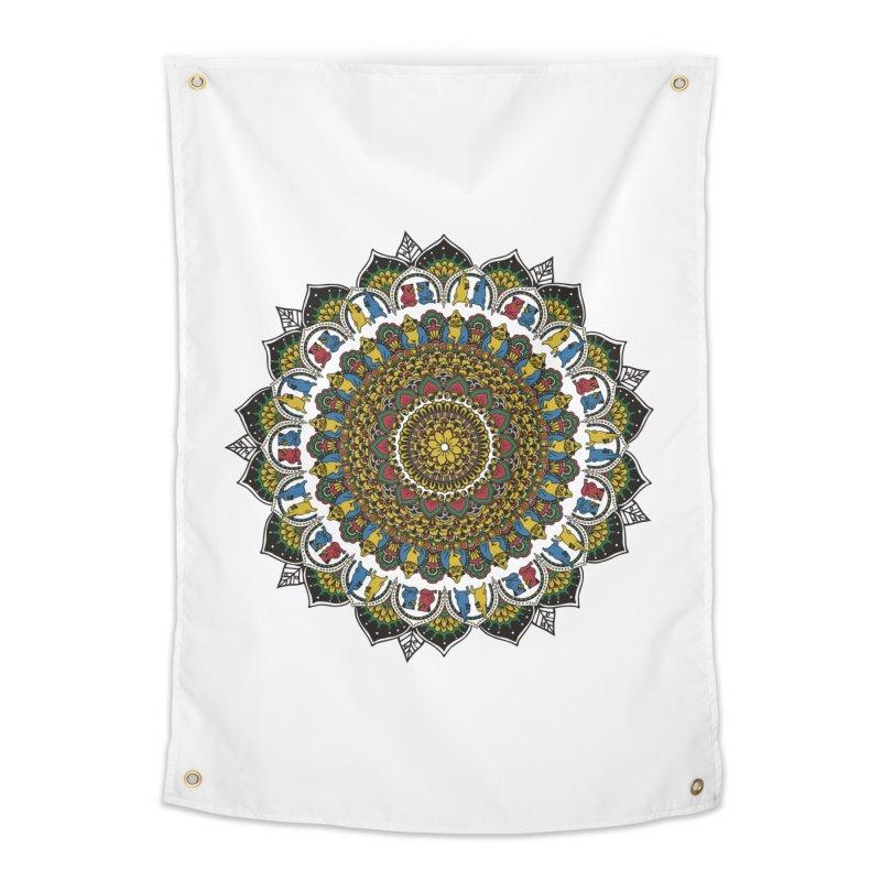 Pugs Yoga Mandala   by huebucket's Artist Shop