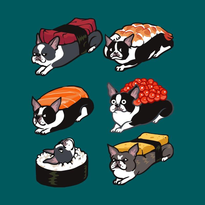 Sushi Boston Terrier Kids Baby Bodysuit by huebucket's Artist Shop