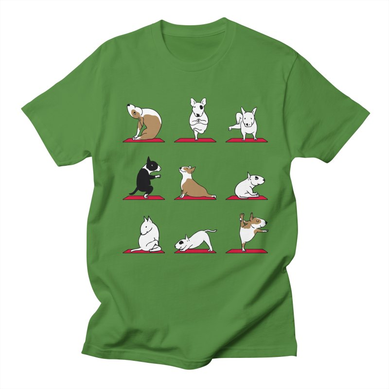 Bull Terrier yoga   by huebucket's Artist Shop