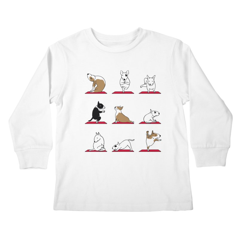 Bull Terrier yoga   by huebucket's Artist Shop