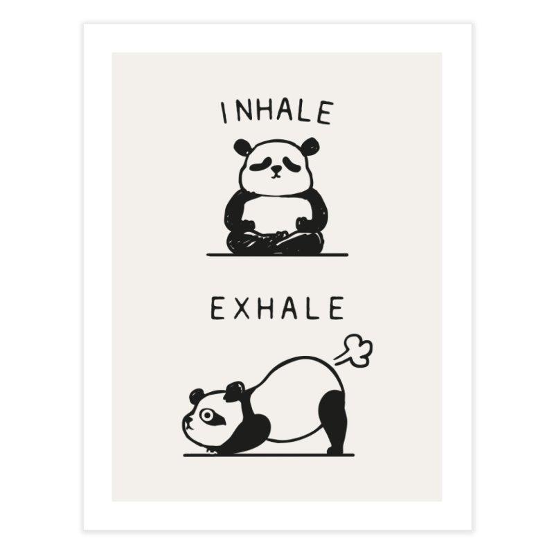 Inhale Exhale Panda Home Fine Art Print by huebucket's Artist Shop