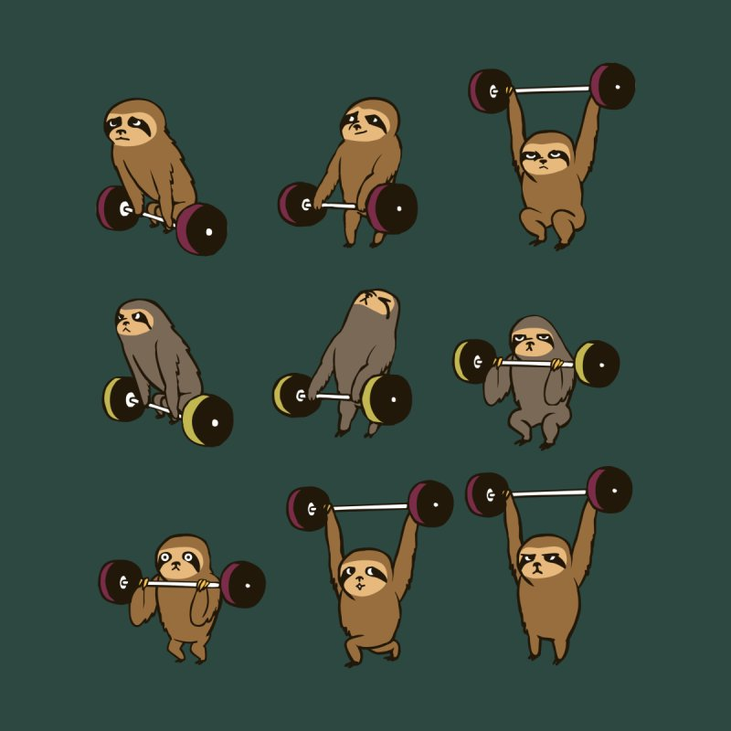 OLYMPIC LIFTING SLOTH None  by huebucket's Artist Shop