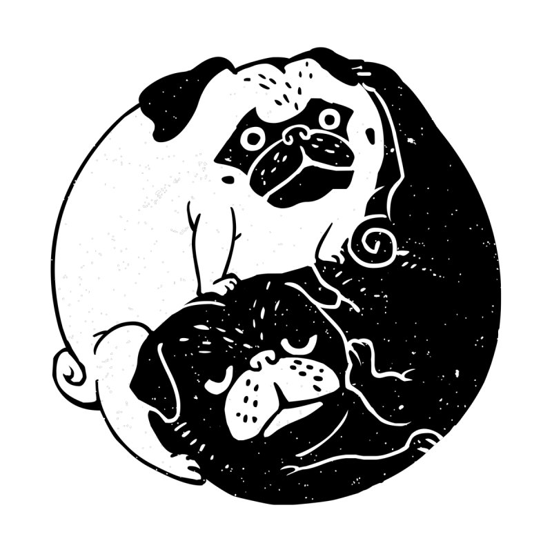 The Tao of Pug by huebucket's Artist Shop