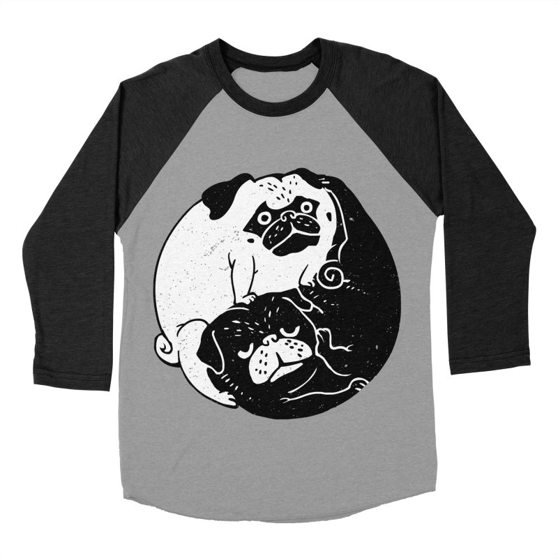 The Tao of Pug Women's Baseball Triblend T-Shirt by huebucket's Artist Shop
