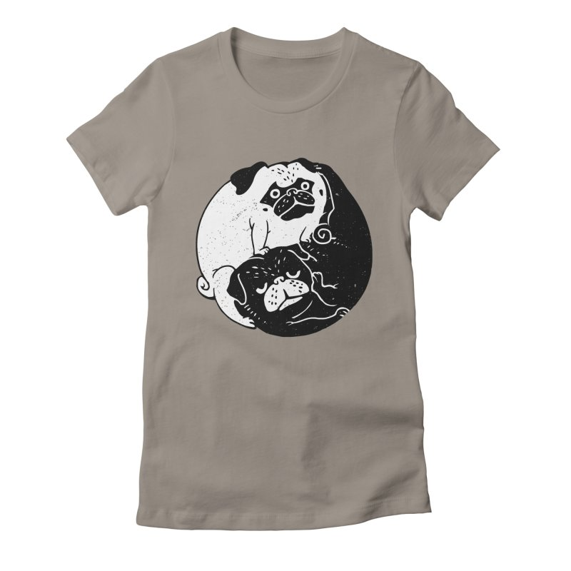 The Tao of Pug Women's Fitted T-Shirt by huebucket's Artist Shop