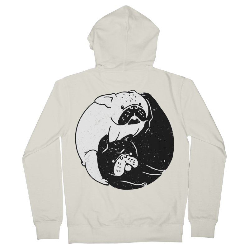 The Tao of French Bulldog Men's Zip-Up Hoody by huebucket's Artist Shop