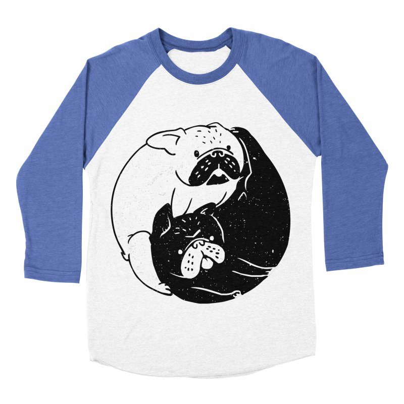 The Tao of French Bulldog Men's Baseball Triblend T-Shirt by huebucket's Artist Shop