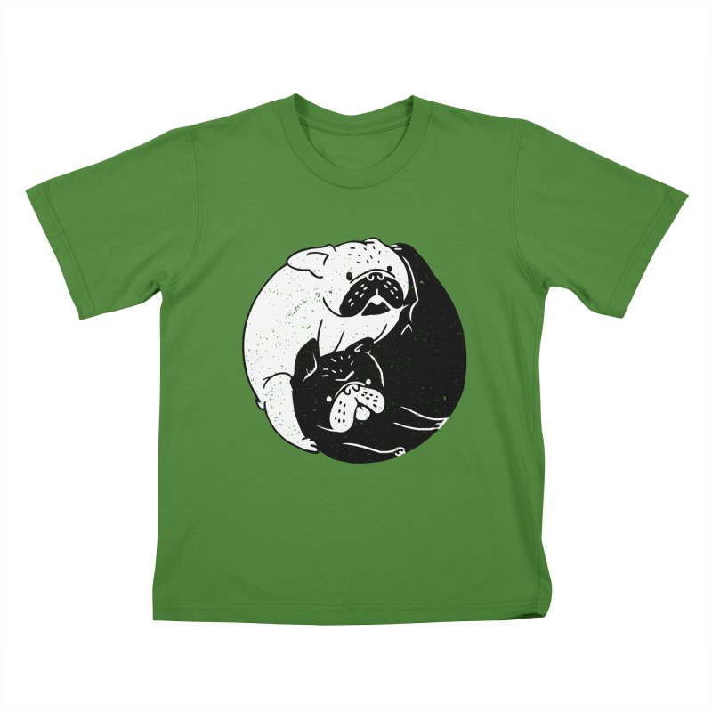 The Tao of French Bulldog Kids T-shirt by huebucket's Artist Shop