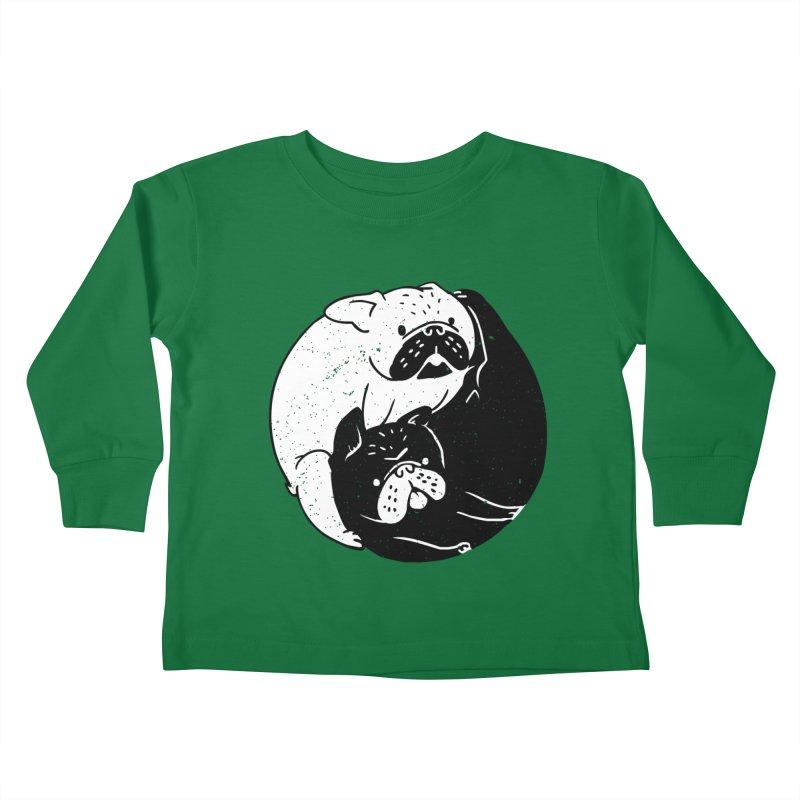 The Tao of French Bulldog Kids Toddler Longsleeve T-Shirt by huebucket's Artist Shop