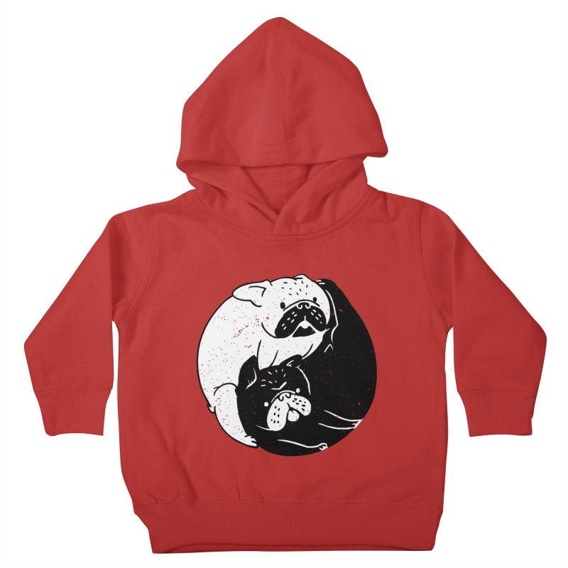 The Tao of French Bulldog Kids Toddler Pullover Hoody by huebucket's Artist Shop