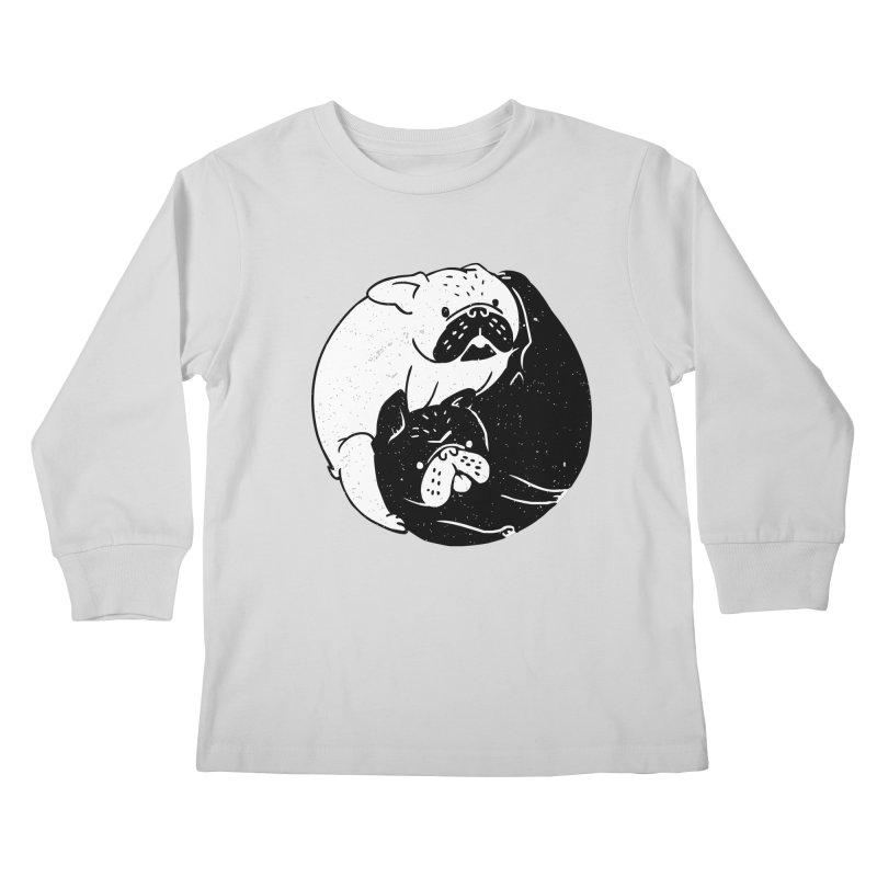 The Tao of French Bulldog Kids Longsleeve T-Shirt by huebucket's Artist Shop