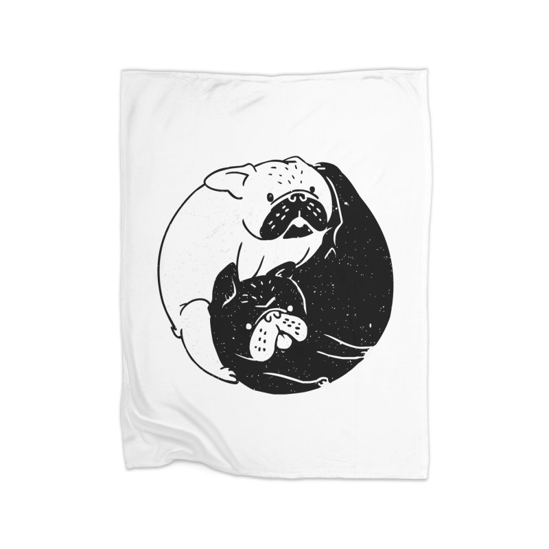 The Tao of French Bulldog Home Blanket by huebucket's Artist Shop