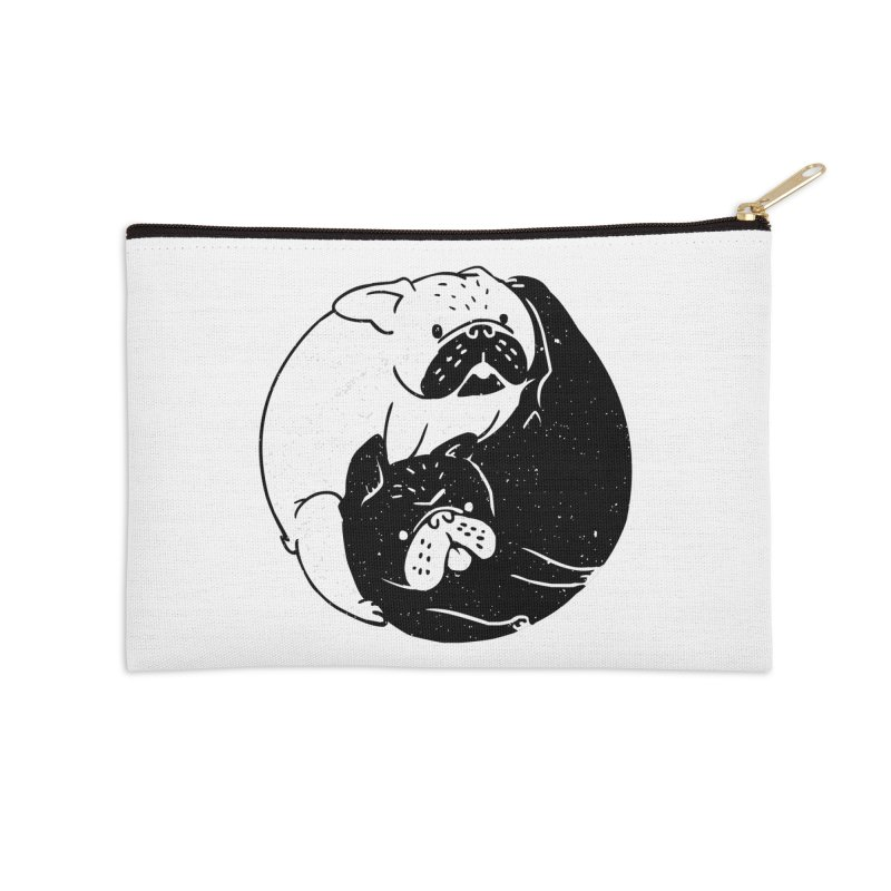 The Tao of French Bulldog Accessories Zip Pouch by huebucket's Artist Shop