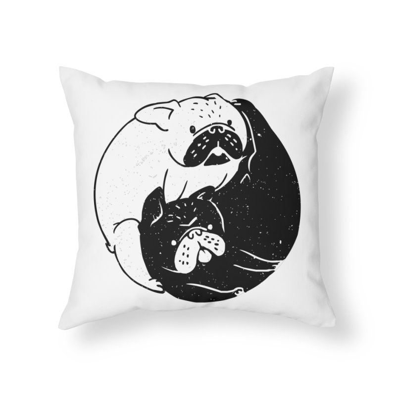 The Tao of French Bulldog Home Throw Pillow by huebucket's Artist Shop