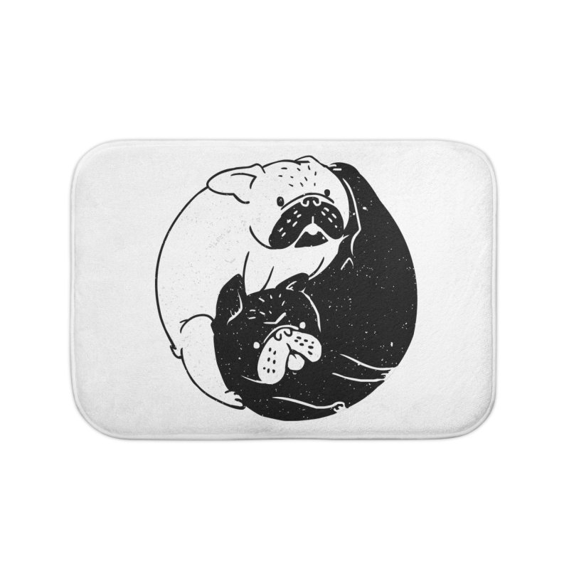 The Tao of French Bulldog Home Bath Mat by huebucket's Artist Shop
