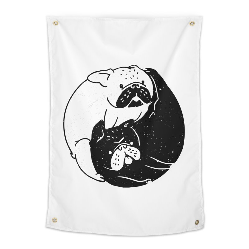 The Tao of French Bulldog Home Tapestry by huebucket's Artist Shop