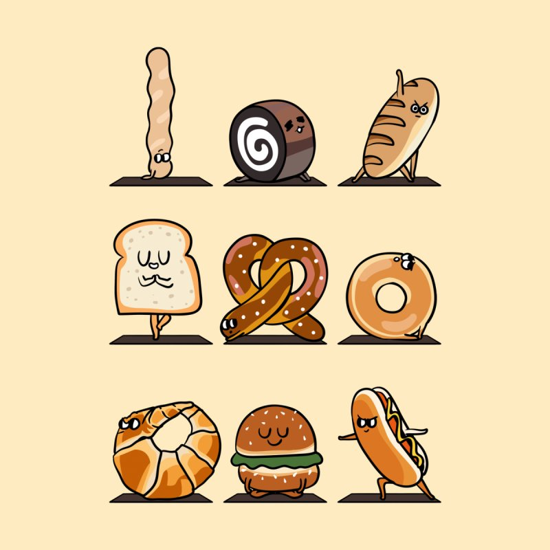 Breads Yoga Home Tapestry by huebucket's Artist Shop