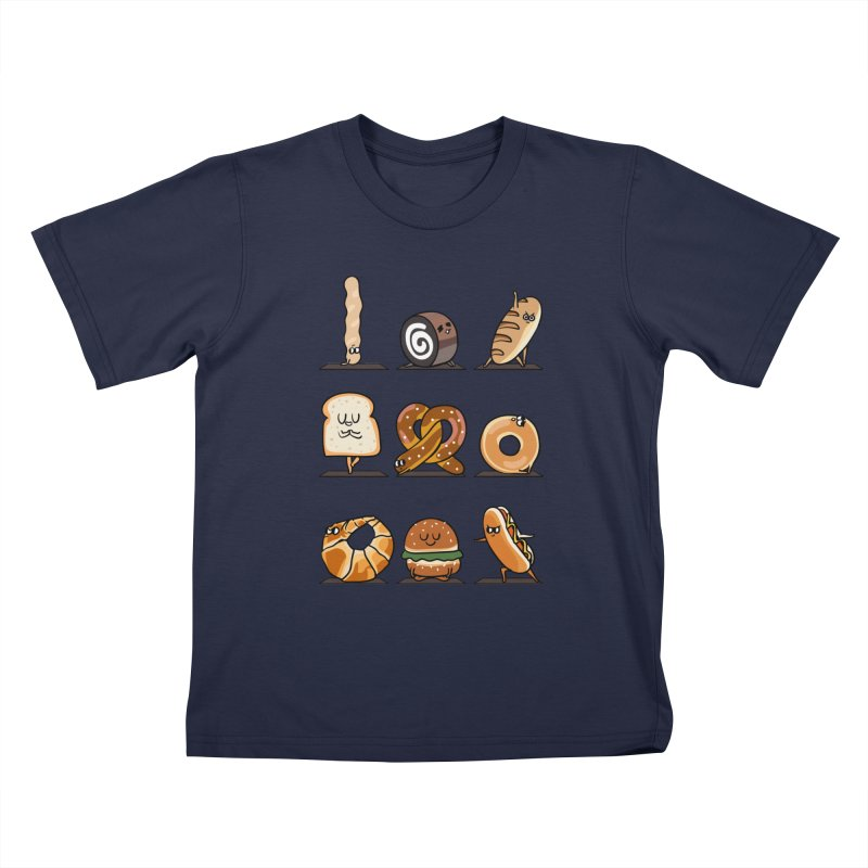 Breads Yoga Kids T-Shirt by huebucket's Artist Shop