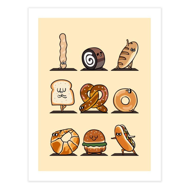Breads Yoga Home Fine Art Print by huebucket's Artist Shop
