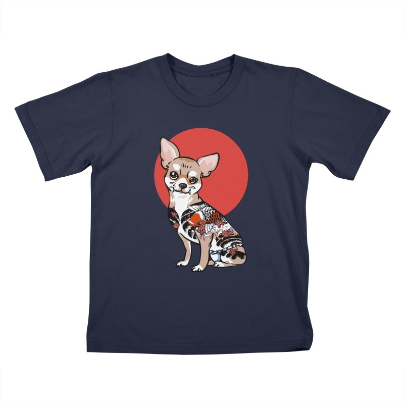 Yakuza Chihuahua Kids T-Shirt by huebucket's Artist Shop