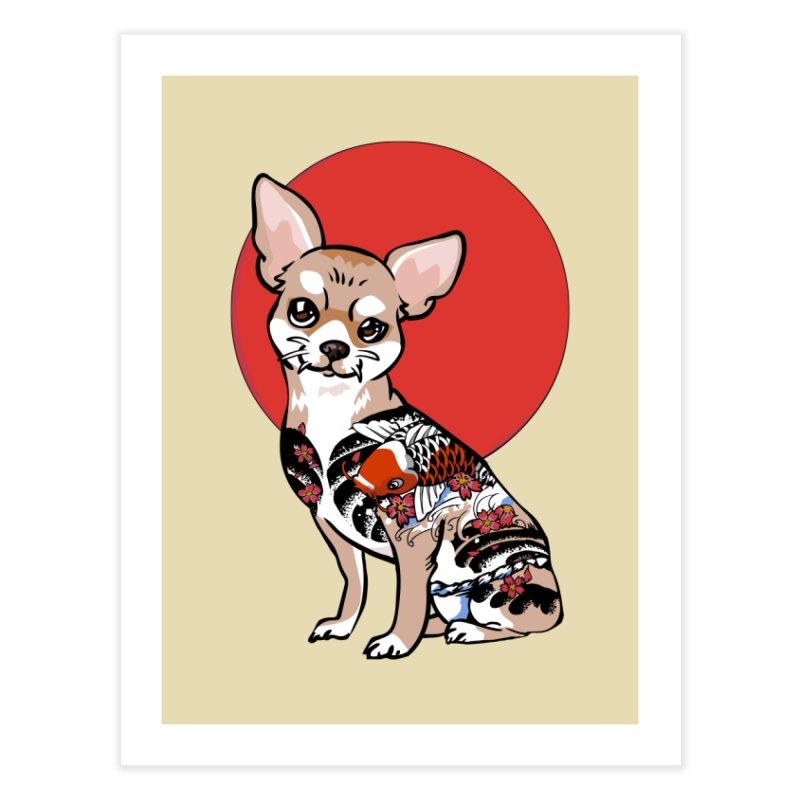 Yakuza Chihuahua Home Fine Art Print by huebucket's Artist Shop