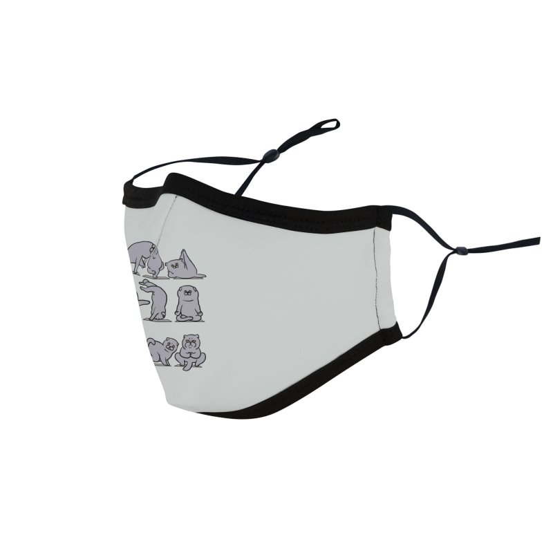 Scottish Fold Yoga Accessories Face Mask by huebucket's Artist Shop