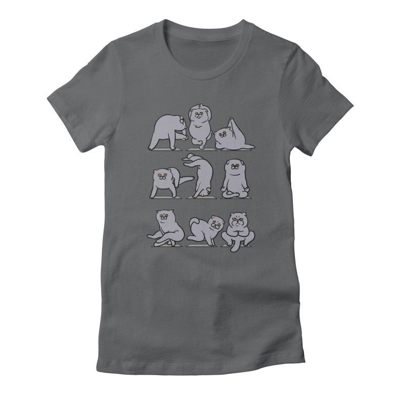 Scottish Fold Yoga Women's T-Shirt by huebucket's Artist Shop