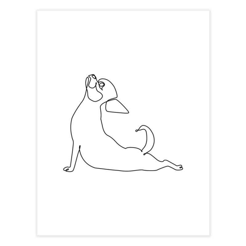 One Line Chihuahua Upward Facing Dog Home Fine Art Print by huebucket's Artist Shop