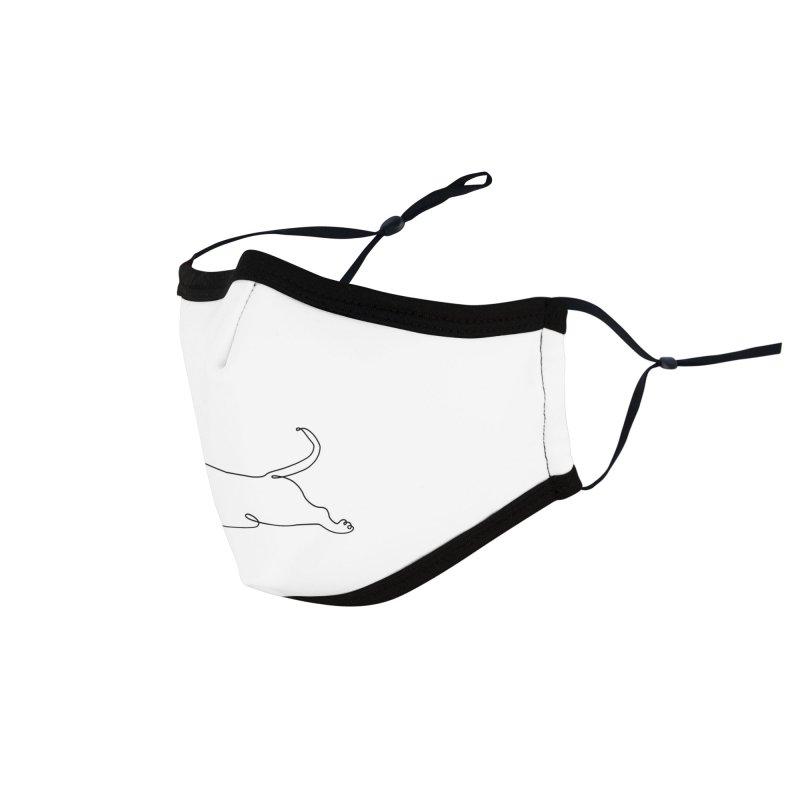 One Line Dachshund Upward Facing Dog Accessories Face Mask by huebucket's Artist Shop