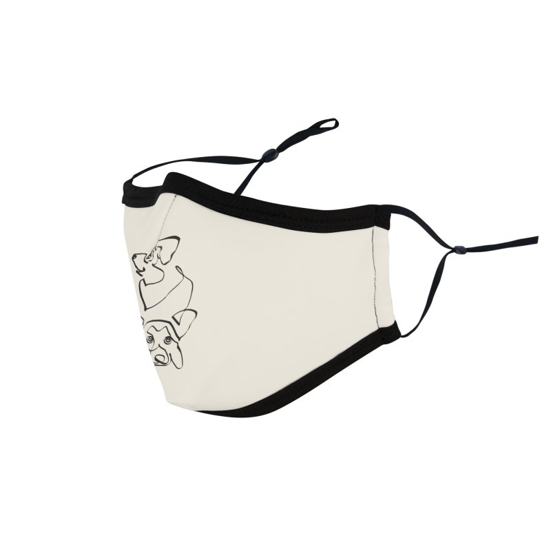 Abstract line Corgi Accessories Face Mask by huebucket's Artist Shop