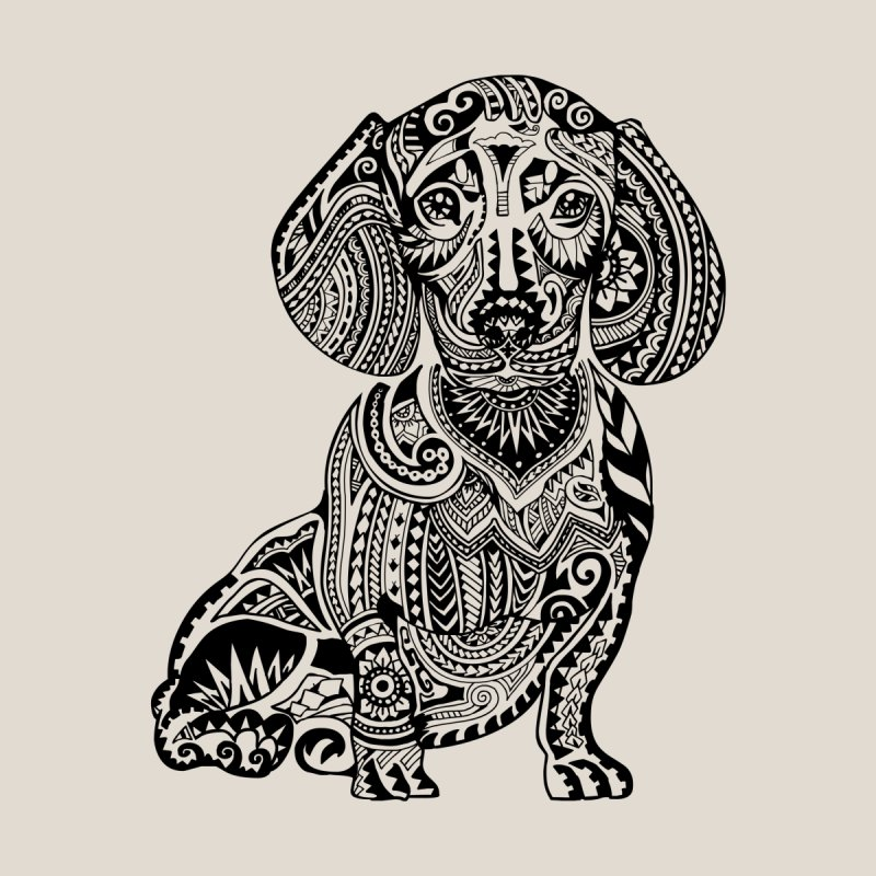 Polynesian Dachshund None  by huebucket's Artist Shop