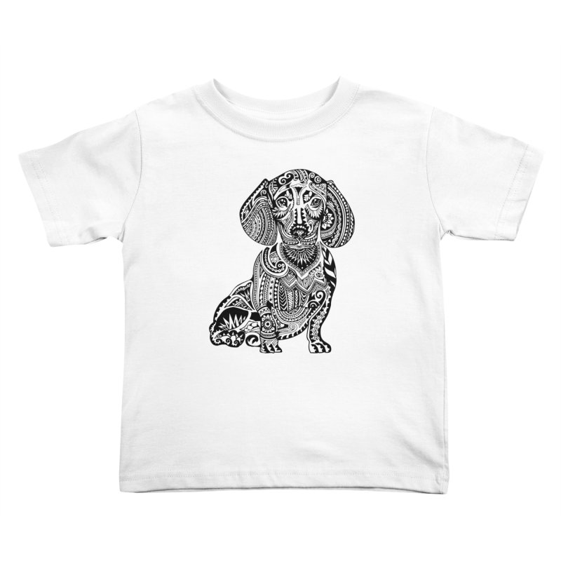 Polynesian Dachshund Kids Toddler T-Shirt by huebucket's Artist Shop
