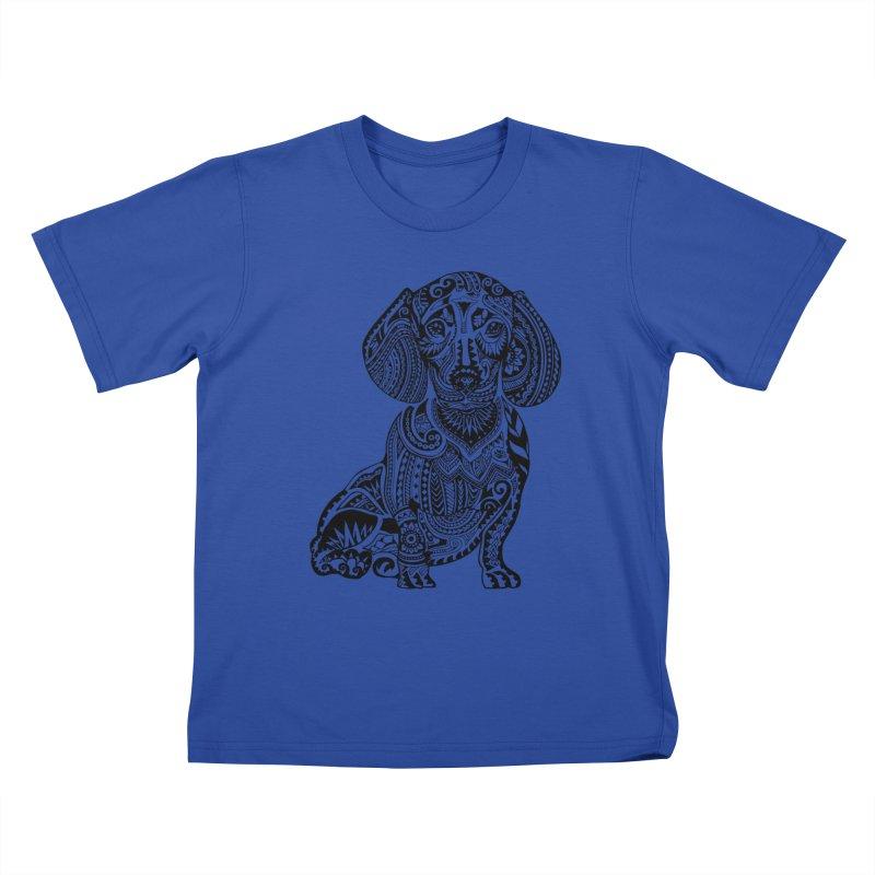 Polynesian Dachshund Kids T-shirt by huebucket's Artist Shop